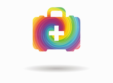 first aid kit: first aid kit colorful icon