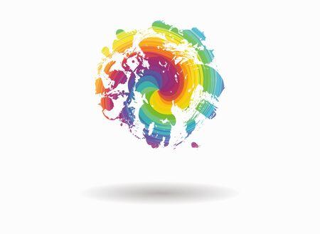 spot: spot circle colorful icon Illustration