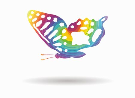 butterfly flying: butterfly flying colorful icon Illustration