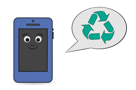 smartphone: smartphone recycling icon Illustration