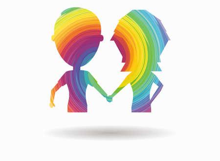 boyfriends: boyfriends colorful icon Illustration