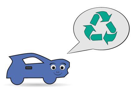 utilization: car recycling icon