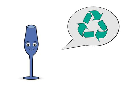 utilization: glass recycling icon