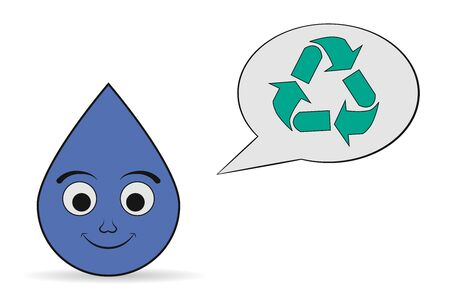utilization: water recycling icon