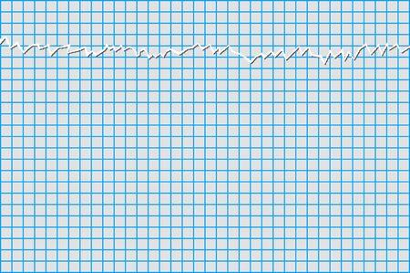 notebook paper: graph paper torn notebook Illustration