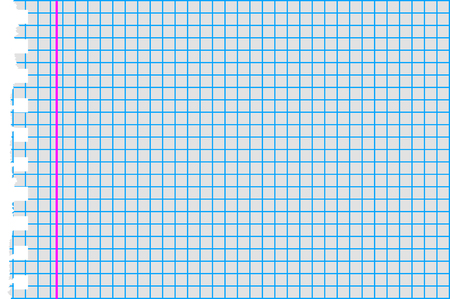 margin: graph paper broken margin