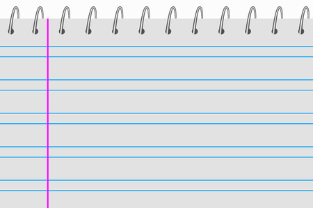 notebook double lines with washers up royalty free cliparts vectors