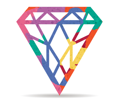 jewel: jewel drawn painted icon vector