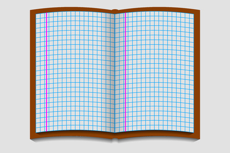 notebook paper: graph paper notebook Illustration