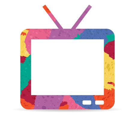 tv drawn painted icon vector