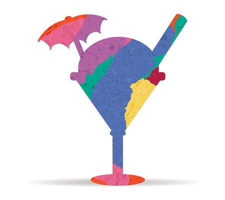 coppa di gelato: sundae disegnato vettore icona dipinta