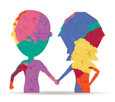 boyfriends: boyfriends drawn painted icon vector