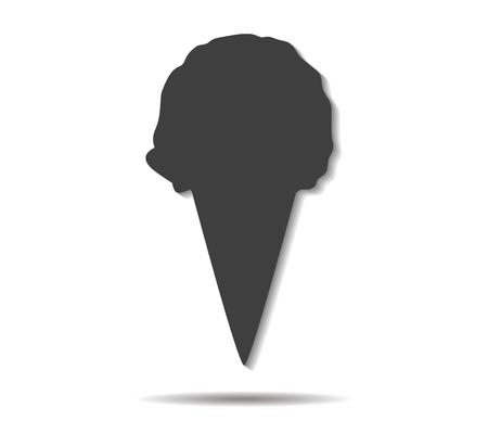 cornet: ice cream cornet double shadow icon vector