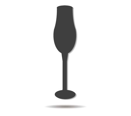 cup double shadow icon vector