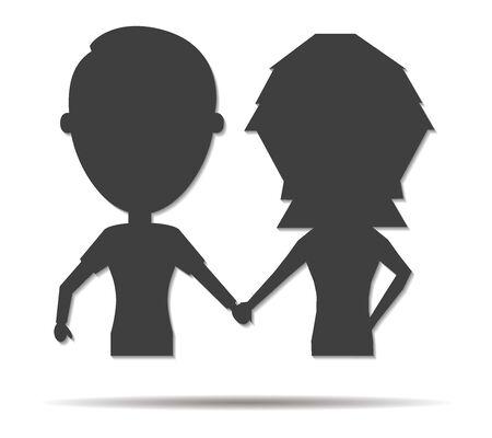 boyfriends: boyfriends double shadow icon vector