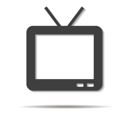 lcd: tv double shadow icon vector