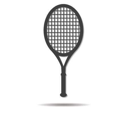 shadow: racket double shadow icon vector