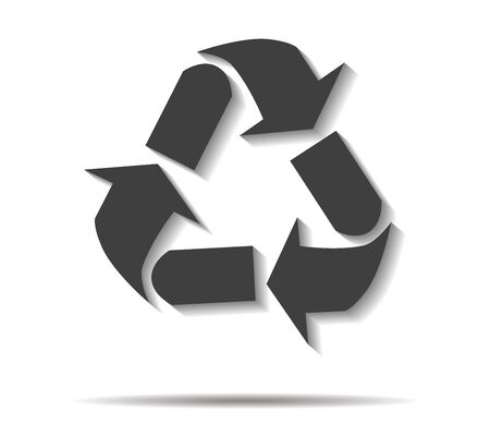 shadow: recycling double shadow icon vector