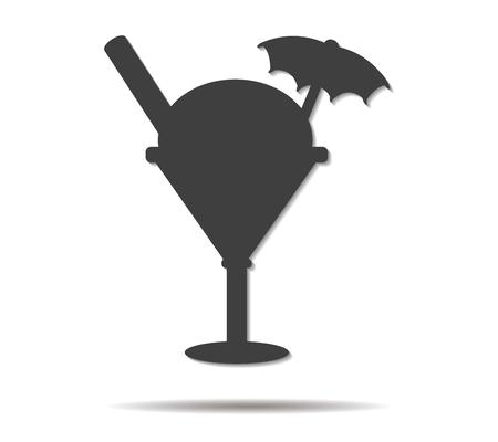 coppa di gelato: sundae doppia ombra di icone vettoriali