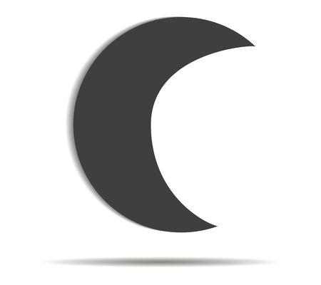 moon shadow: moon double shadow icon vector