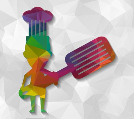 low poly: chef low poly