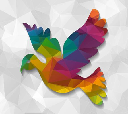 low poly: dove low poly Illustration