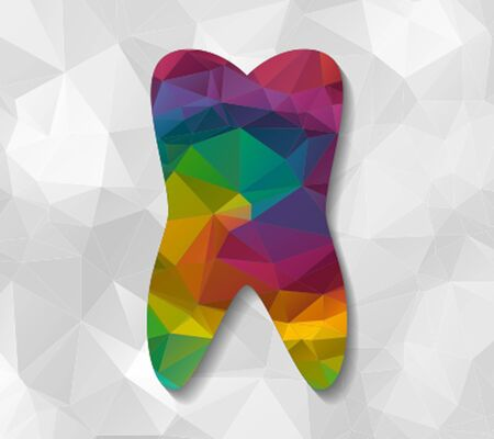 low poly: tooth low poly