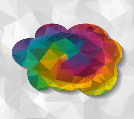 low: cloud low poly Illustration