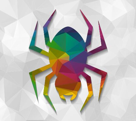 low poly: spider low poly