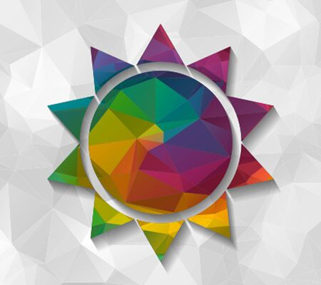 low poly: abstract sun low poly