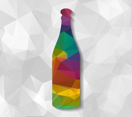 low poly: bottle low poly