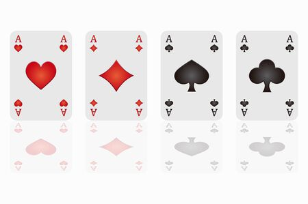 jack of hearts: background poker cards Illustration