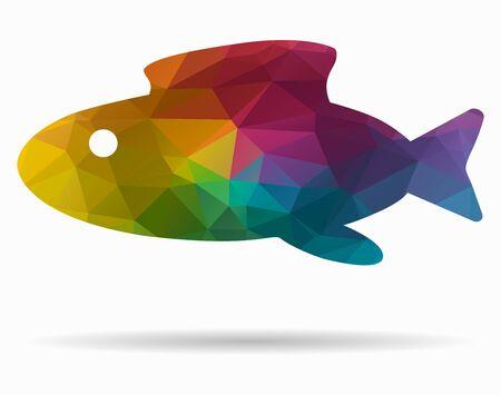 abstract fish: abstract fish poly icon