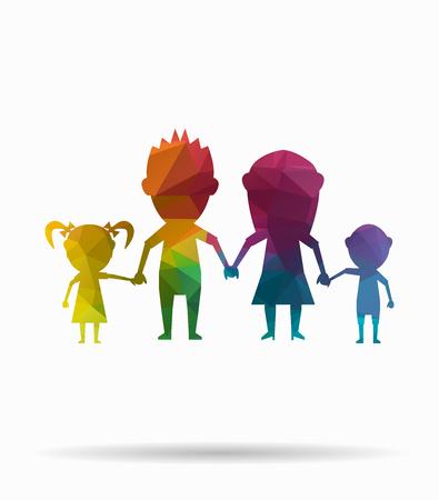 parentage: poly icon dolls happy family