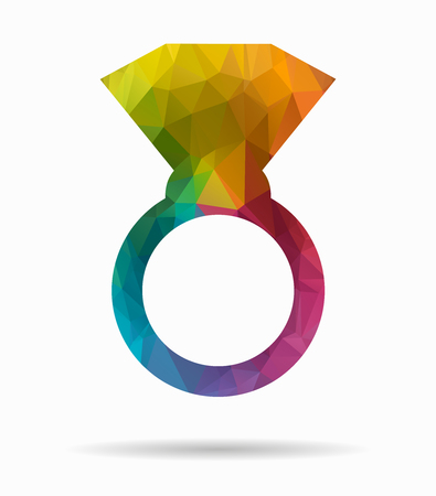 jeweller: ring poly icon