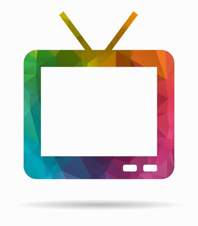 conputer: tv poly icon