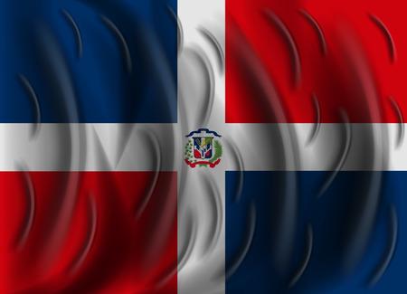 dominican republic: dominican republic wind flag Illustration
