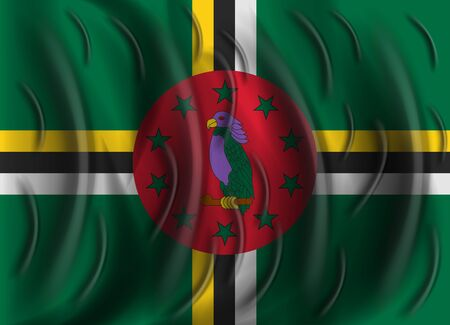 dominica: dominica wind flag Illustration