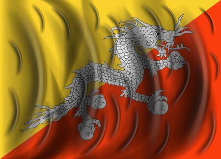 bhutan: bhutan wind flag