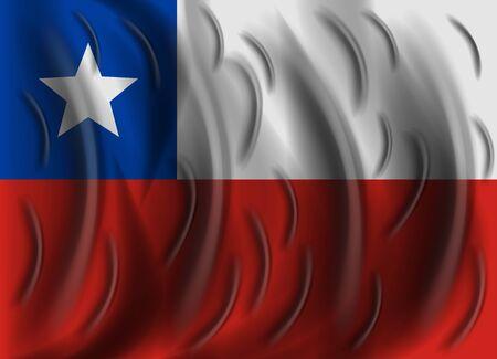chile: chile wind flag Illustration
