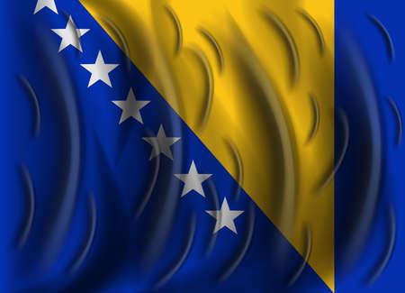 bosnia and herzegovina: bosnia and herzegovina wind flag