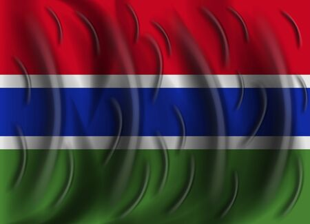 gambia: gambia wind flag