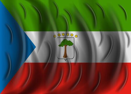 equatorial: equatorial guinea wind flag Illustration