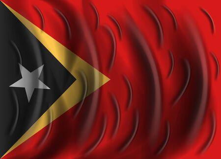 east: east timor wind flag Illustration