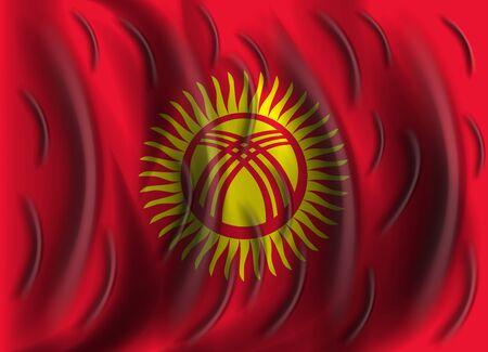 kyrgyzstan: viento Bandera de Kirguist�n