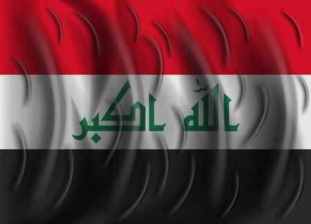 iraq: iraq wind flag
