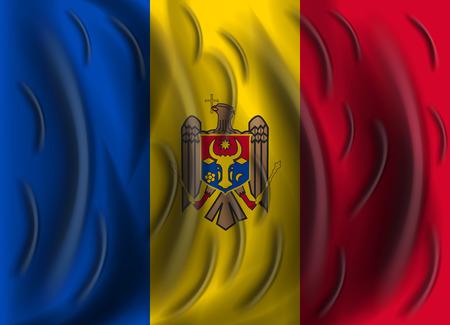 moldova: moldova wind flag Illustration
