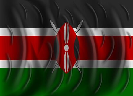 kenya: kenya wind flag