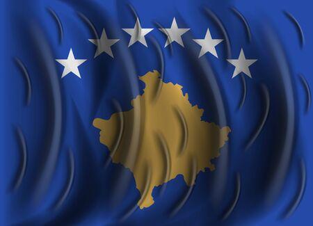 kosovo: kosovo wind flag