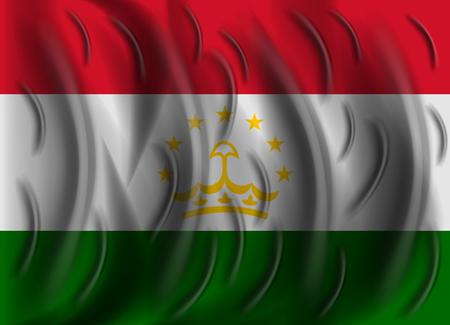 tajikistan: tajikistan wind flag Illustration